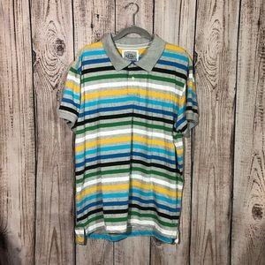 🌕4/$15🌕 Old Navy Blue Striped Polo Shirt XXL